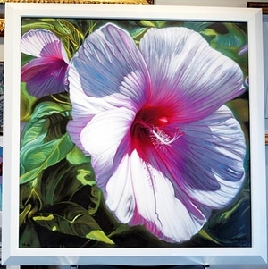 """Southern Belle Hibiscus with Laser Light"" by Gary Fox"