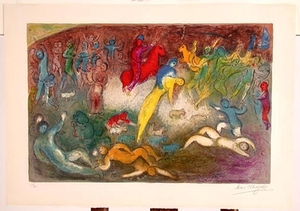 """Chloe is Carried Off by the Methymneans"" by Marc Chagall"