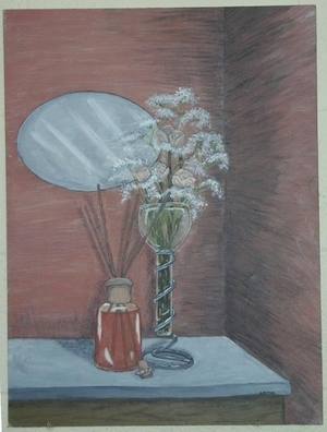 Still Life in Red and Green
