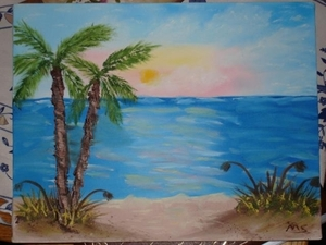Florida Palms in Oil
