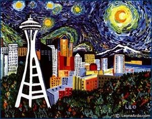 Seattle Starry Night