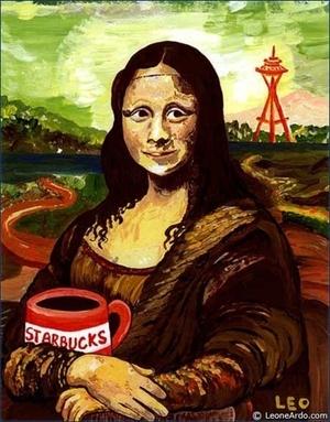 Starbucks Mona Lisa