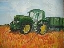 John Deere In A Wheatfield