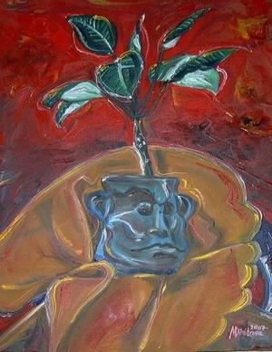 """Funny flowerpot"""