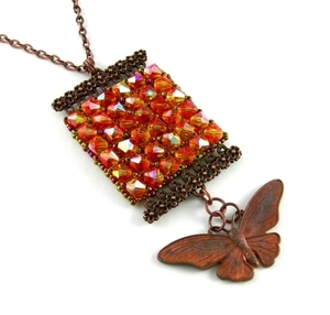 3Fine Design® Butterfly Kisses Tapestry Necklace