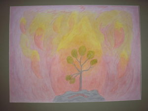 Tree with fire element
