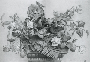 Still Life with Roses & Dragon-fly