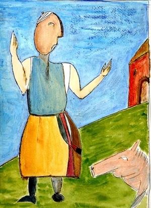 rebuked pig