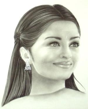 aishwarya rai portrait painting