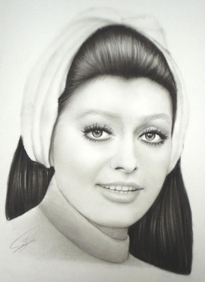 googoosh portrait painting