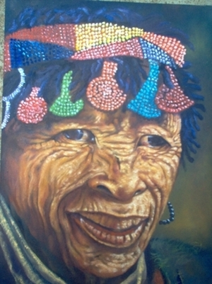 bushman old woman