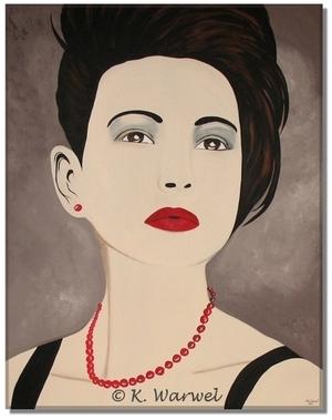 Scarlett - Acrylic painting