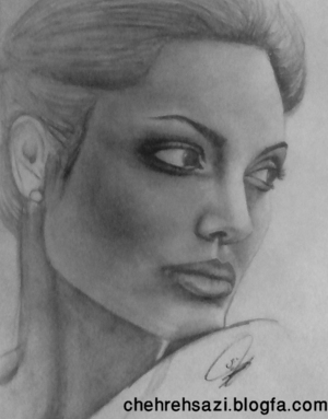 angelina jolie portrait painting