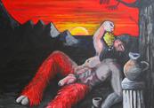 Hedeonism_satyre_sundown_painting_art_danny_hennesy-thumb