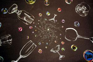 Bubbles and Liquor Glasses