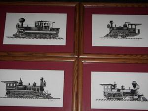Set of famous trains