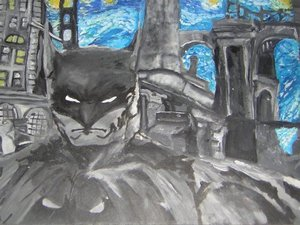 Batman stuck in stary night