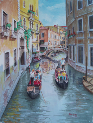 Venice Canal, in Italy