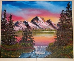 """Pastel Mountain Lake"""