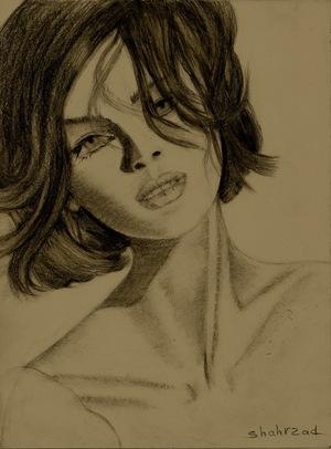 pencil drawing by shahrzad ranji