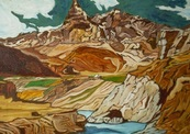Artist-barun_hazra_title-river_down_from_mountain_medium-oil_on_canvas_size-36x42in-thumb