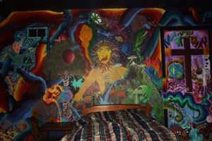 Rasta trippy man wall