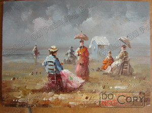 beach oil painting