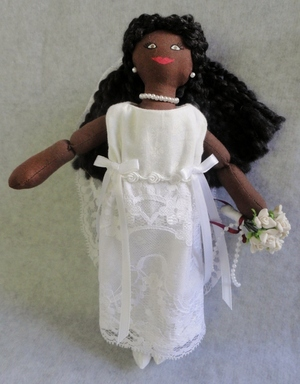 African American Bride Doll