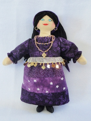 Purple Gypsy Doll