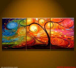 Abstract group oil painting for home decoration