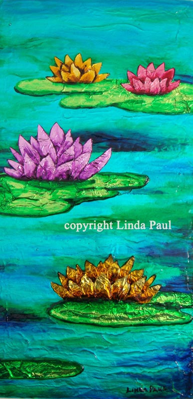 Water-lilies-original-contemporary-art-painting-normal