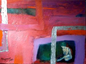 CRINGED, 2012, cm. 60x70, oils