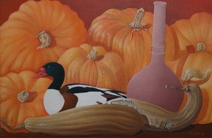 pumpkins with shell duck
