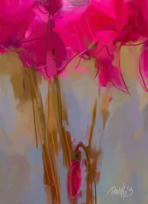Cyclamen Understudy - 20 x 30 Canvas Giclee