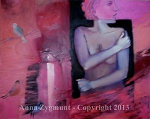 Nude with Birds, 2012, cm.60x81