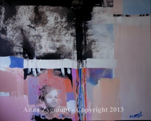 Graphic Angel , 2012, oil on canvas, cm.60 x 81, oil canvas