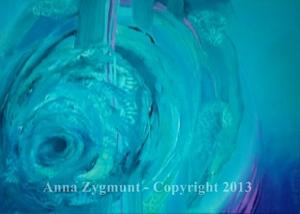 LAZURE WHIRPOOL, 2011, OIL ON CANVAS, cm.50x70