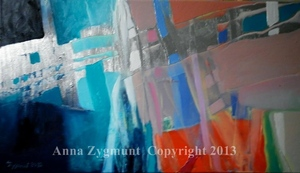 Abstract Discovery3.2012.oil on canvas.cm.40x70