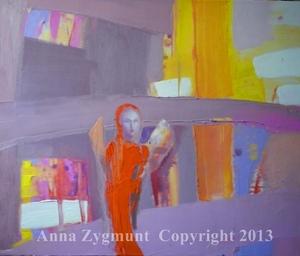 Orange Angel.2012.Oil on canvas. cm.40x50.