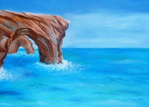 rock on the sea
