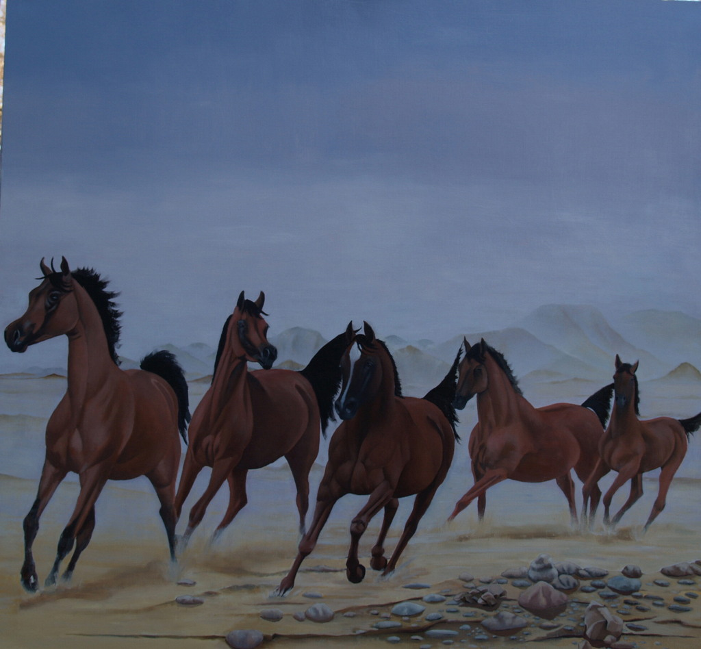 166._5_horses_with_jebel_ad_dukhan_in_the_background.-normal