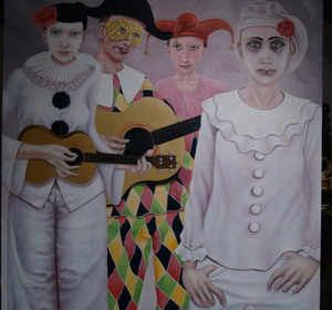 pierrots with harlequin