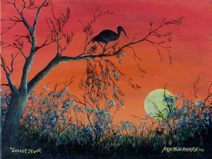 Sunset Stork