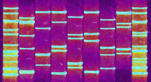 Bright Abstract DNA Portrait