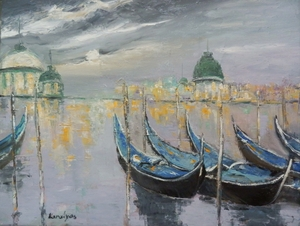 Venice under the moonlight