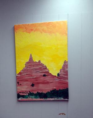 Arizona Red rock Mountain - 3ftx2ft