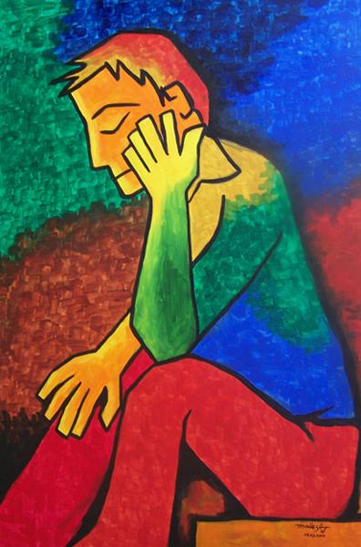 Thinking(acrylic)-normal